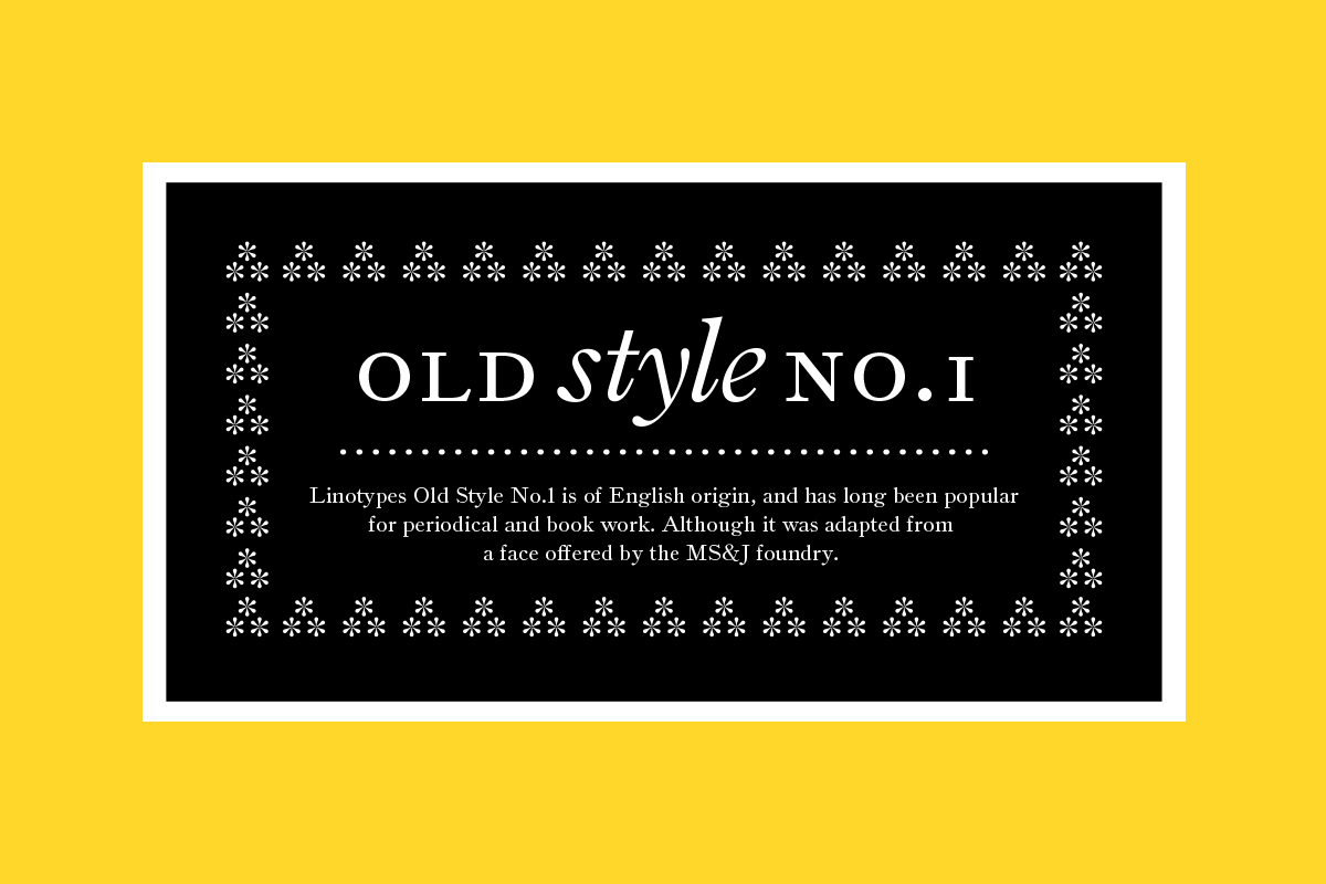 Old Style No.1